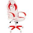 Игровое кресло Chairman Game 16 White/Red (00-07030050)